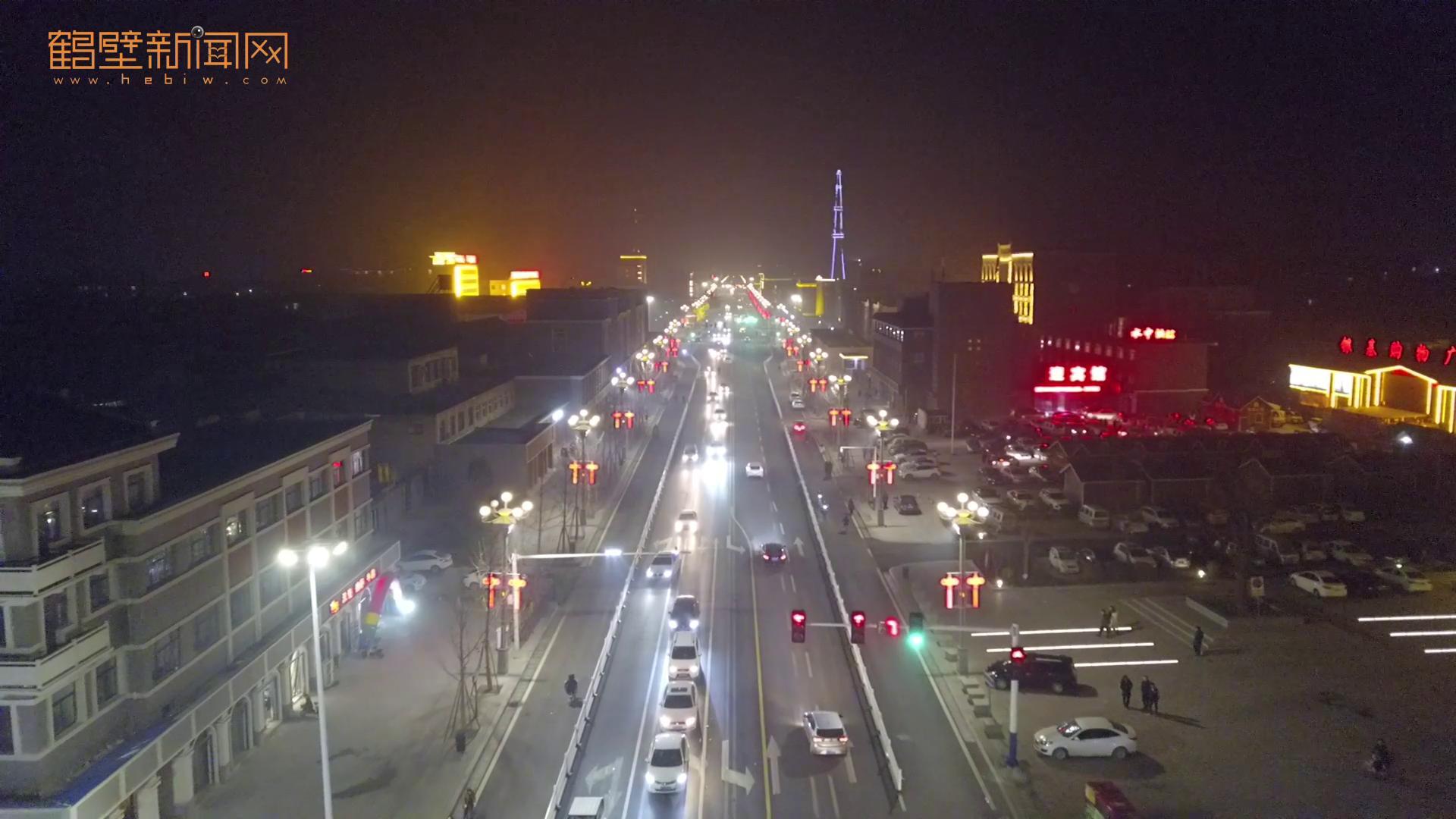 浚县的古城 美丽的夜景